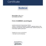 Certyfikat serwis Buderus