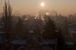 smog z kotłów centralnego ogrzewania